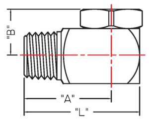 Hollow Cone Nozzle BJBMX drawing